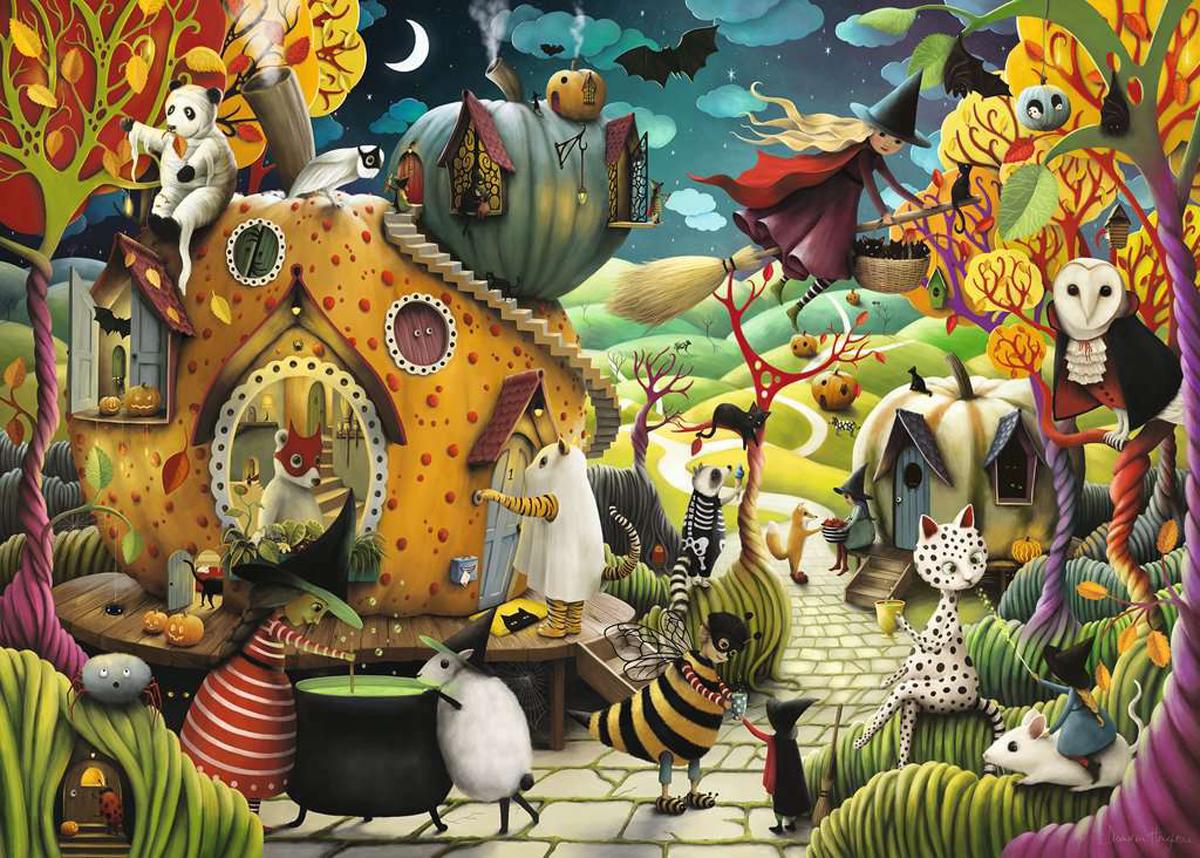 Happy Halloween Cats Jigsaw Puzzle