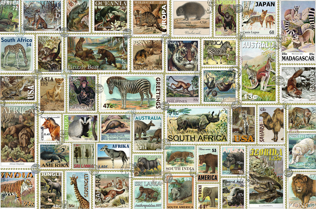 Animal Stamps Animals Jigsaw Puzzle