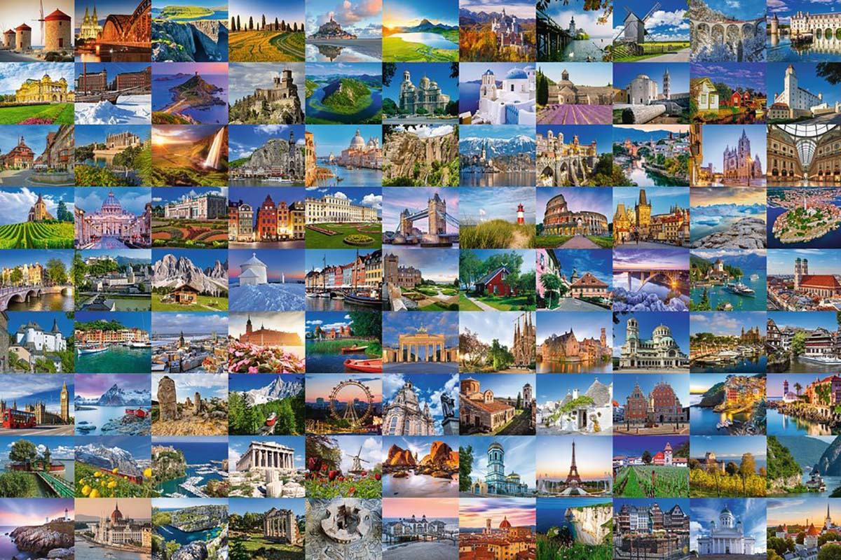 Beautiful Places of Europe Photography Jigsaw Puzzle
