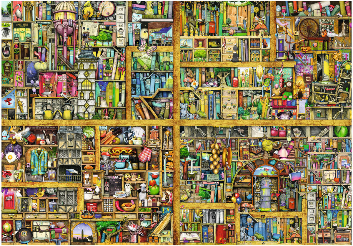 Magical Bookcase - Scratch and Dent Everyday Objects Jigsaw Puzzle