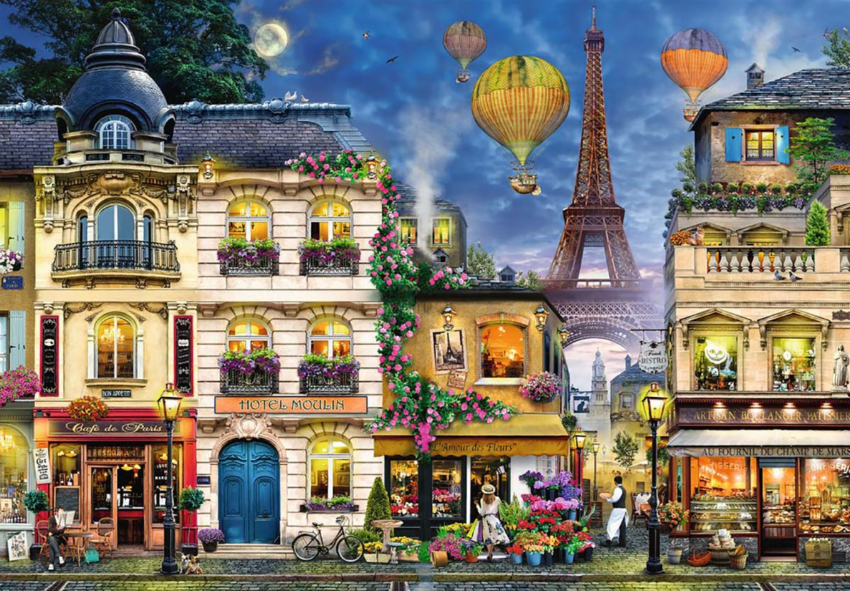 Evening Walk in Paris Skyline / Cityscape Jigsaw Puzzle