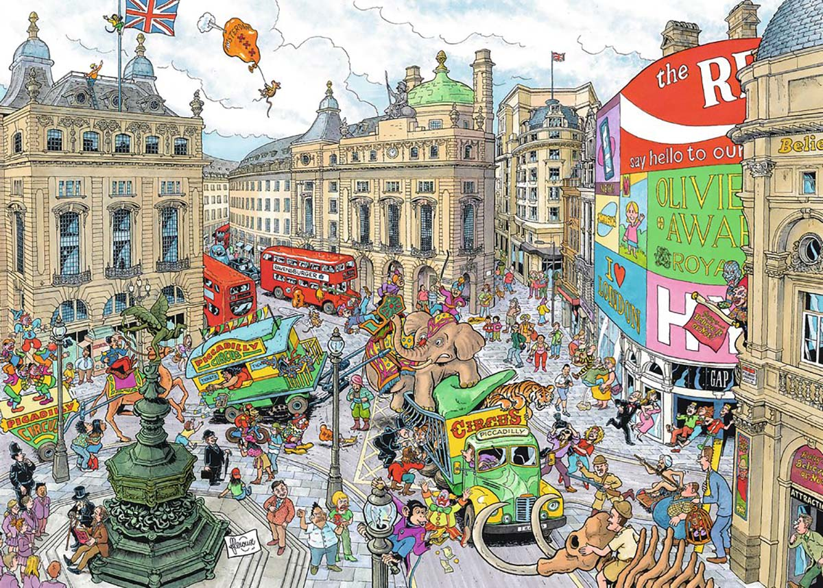 Piccadilly Circus Street Scene Jigsaw Puzzle