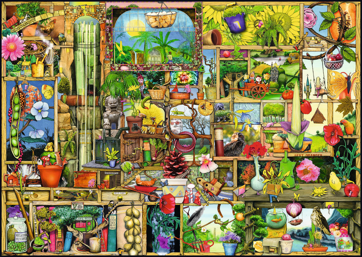 The Gardener's Cupboard Flowers Jigsaw Puzzle