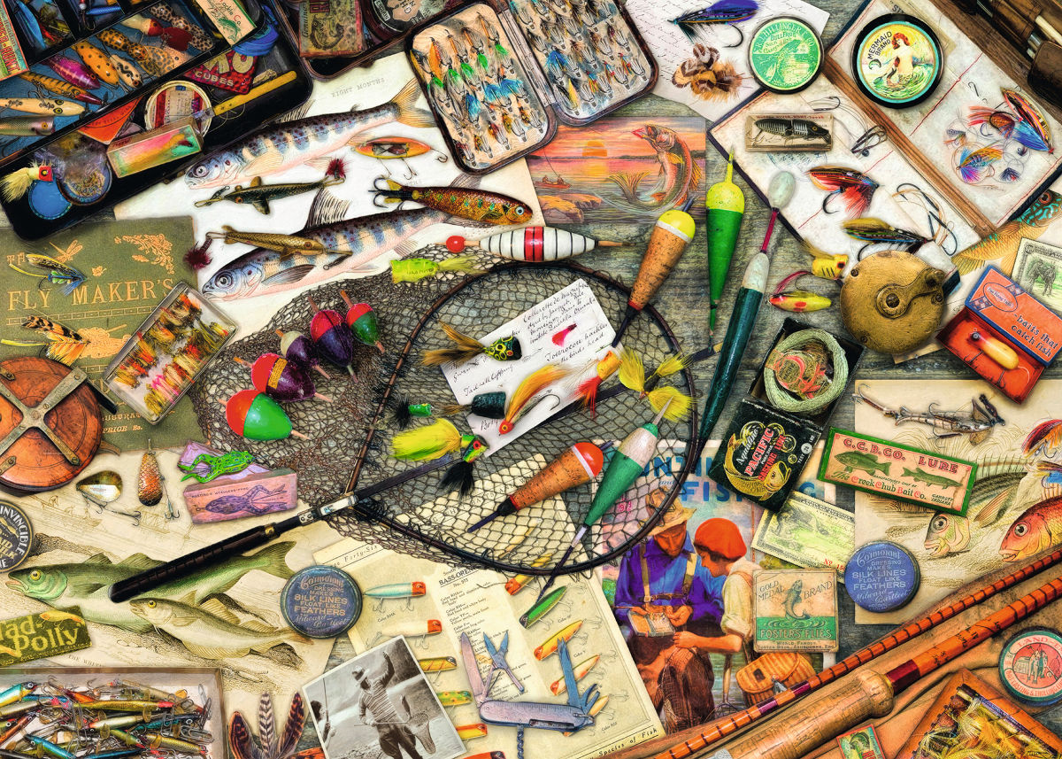 Fishing Fun - Scratch and Dent Everyday Objects Jigsaw Puzzle