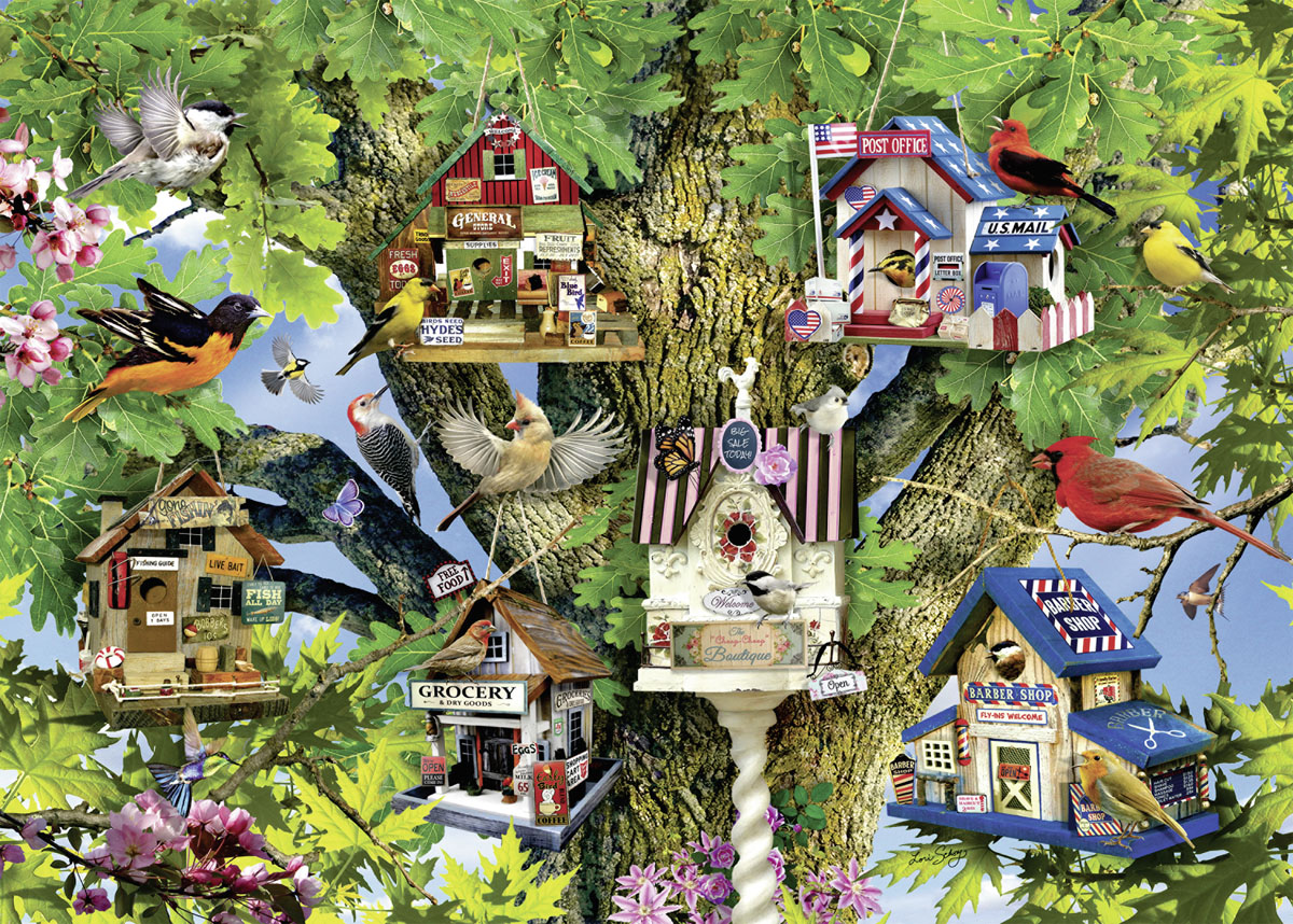 Bird Village Birds Jigsaw Puzzle