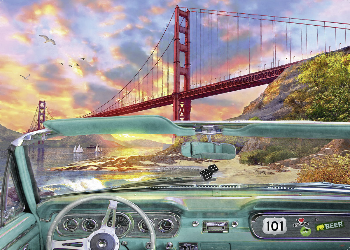 Golden Gate Cars Jigsaw Puzzle