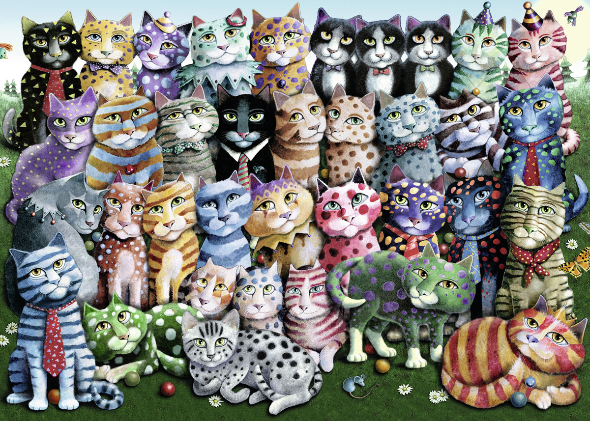 Toys For Family Reuion : Cat family reunion jigsaw puzzle puzzlewarehouse