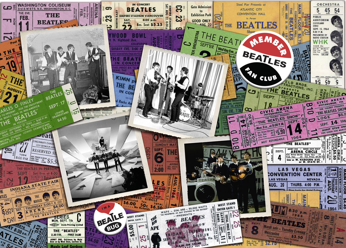 Beatles: Tickets Music Jigsaw Puzzle