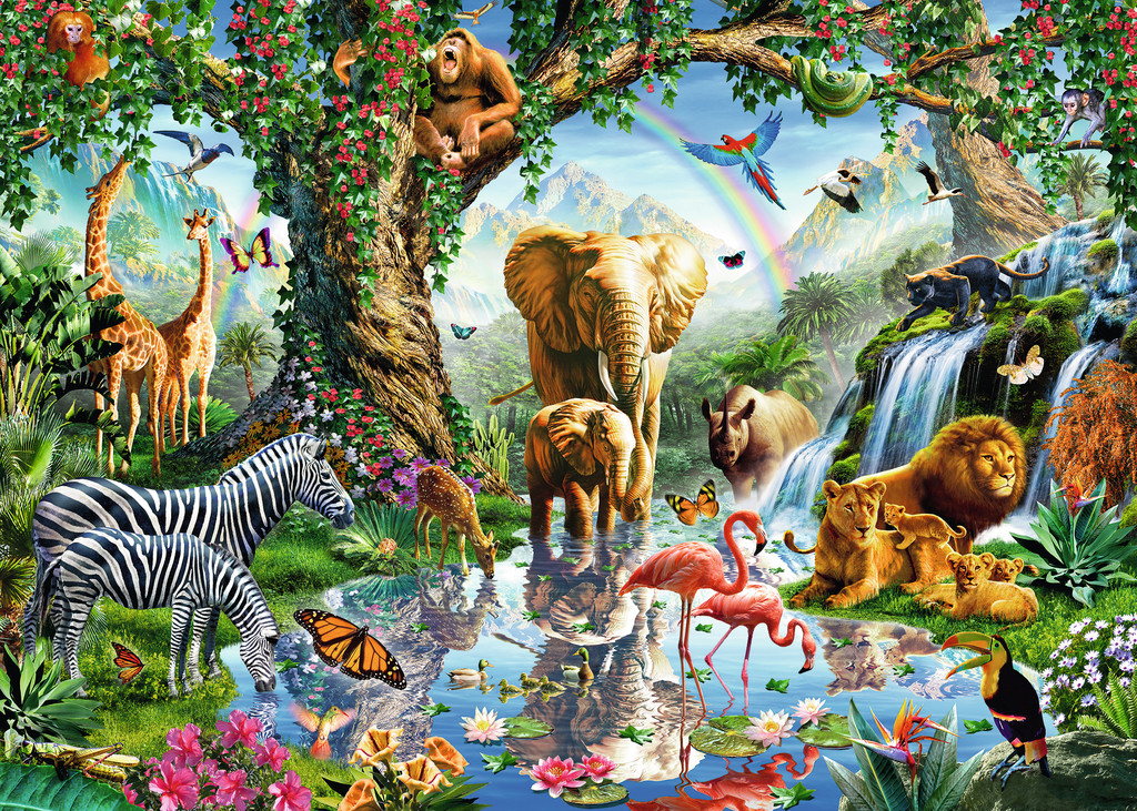 Adventures in the Jungle Jungle Animals Jigsaw Puzzle