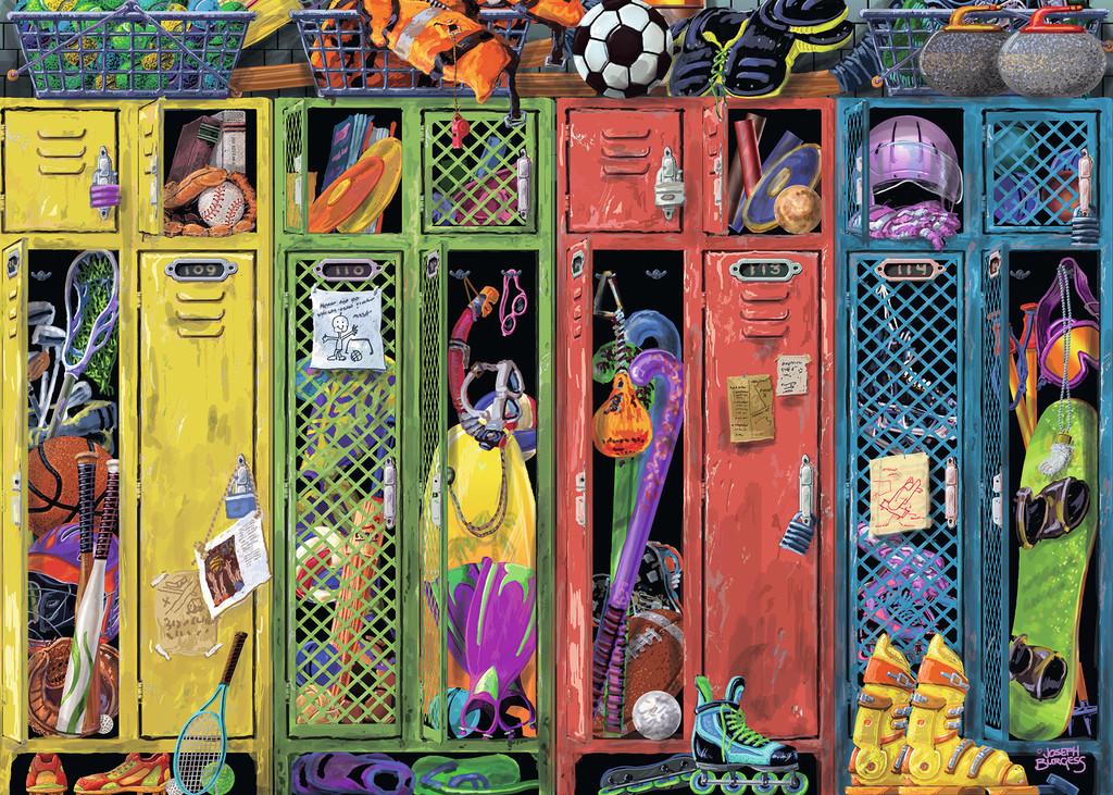 The Locker Room Everyday Objects Jigsaw Puzzle