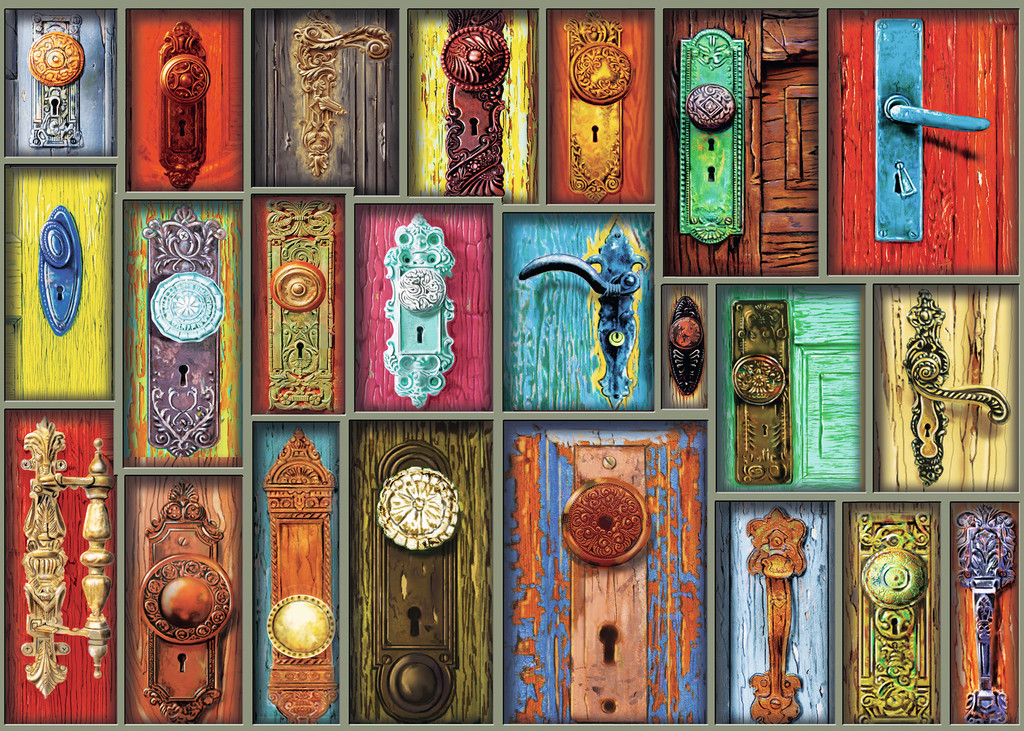 Antique Doorknobs Everyday Objects Jigsaw Puzzle