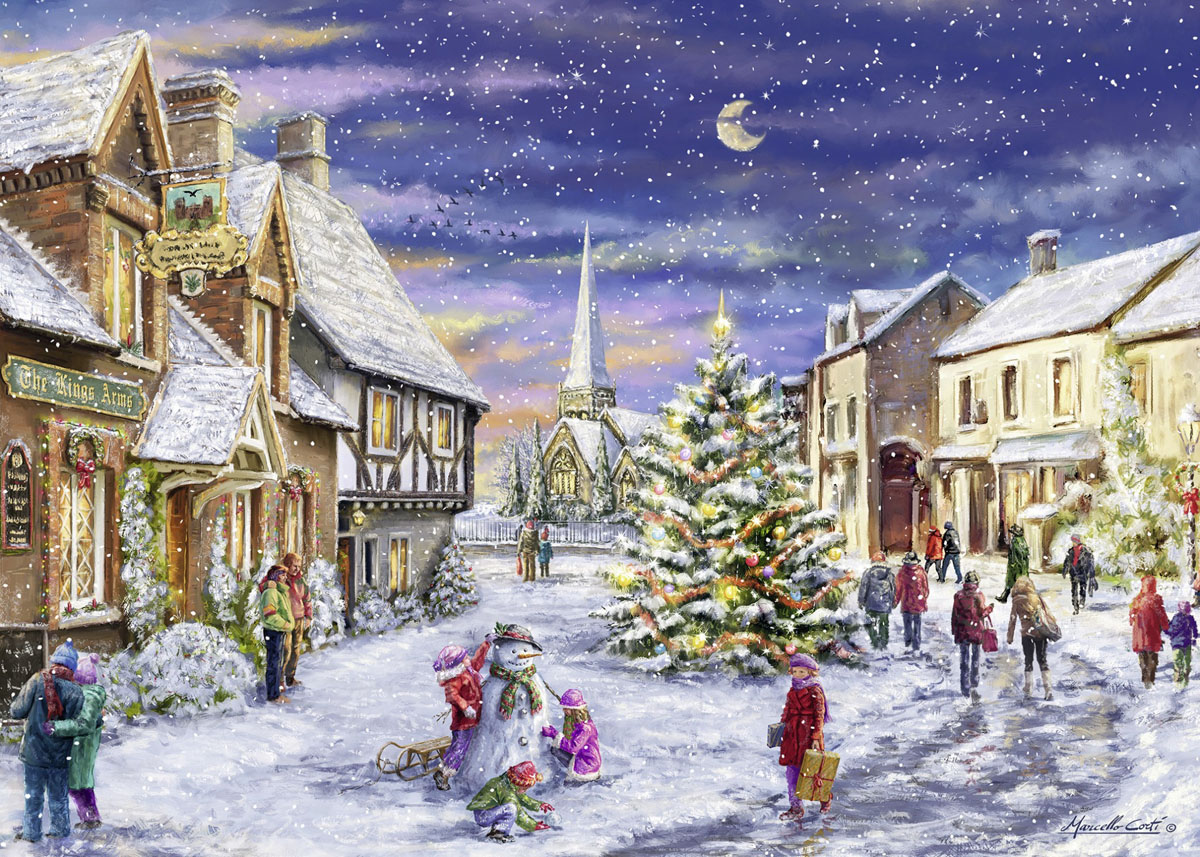 Christmas Village - Scratch and Dent Winter Jigsaw Puzzle