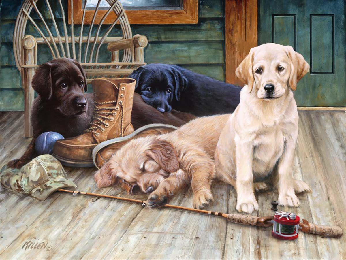 Ruff Day Dogs Jigsaw Puzzle