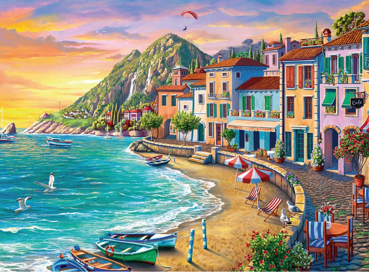Romantic Sunset Italy Jigsaw Puzzle