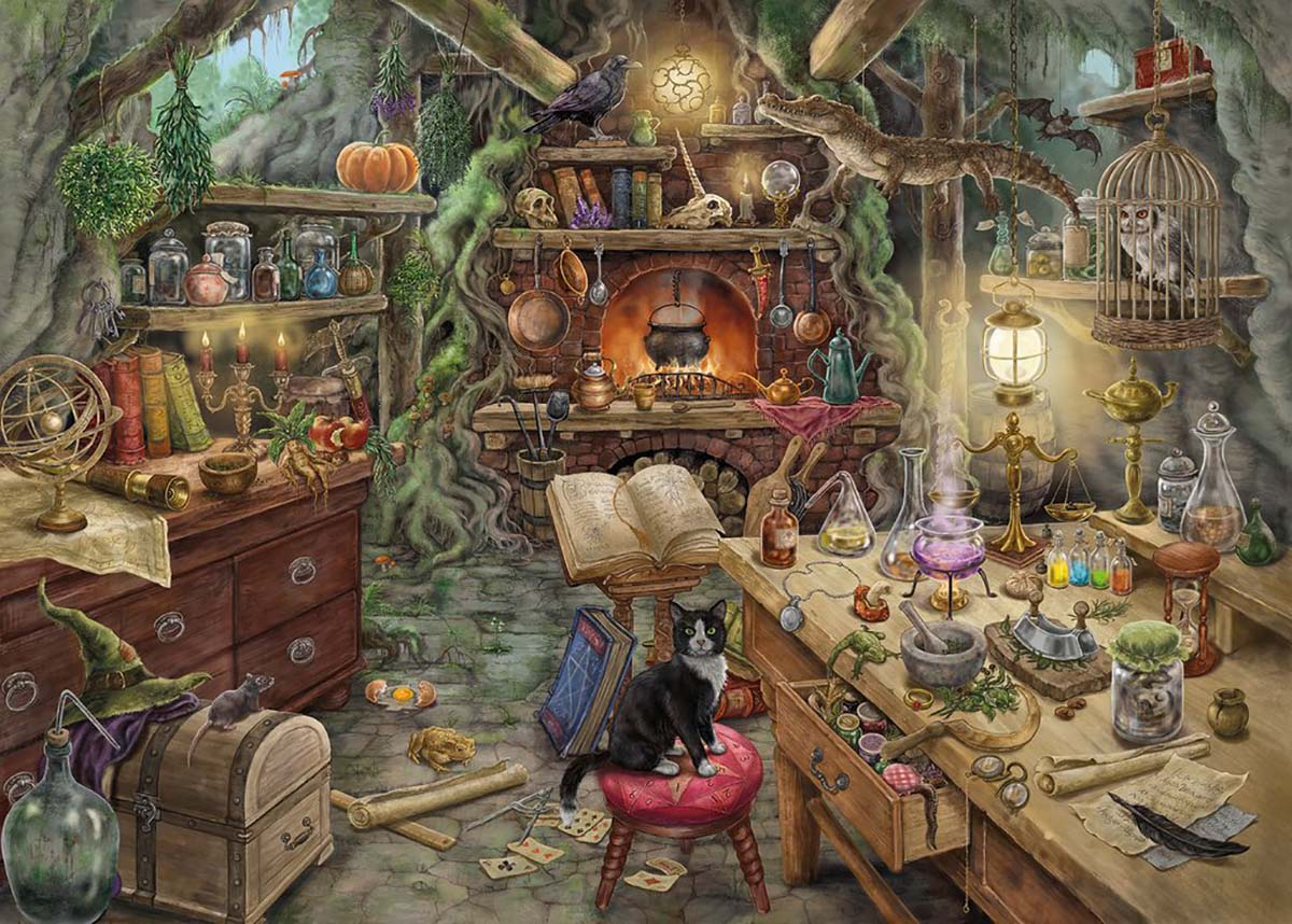 Witch's Kitchen Cats Jigsaw Puzzle
