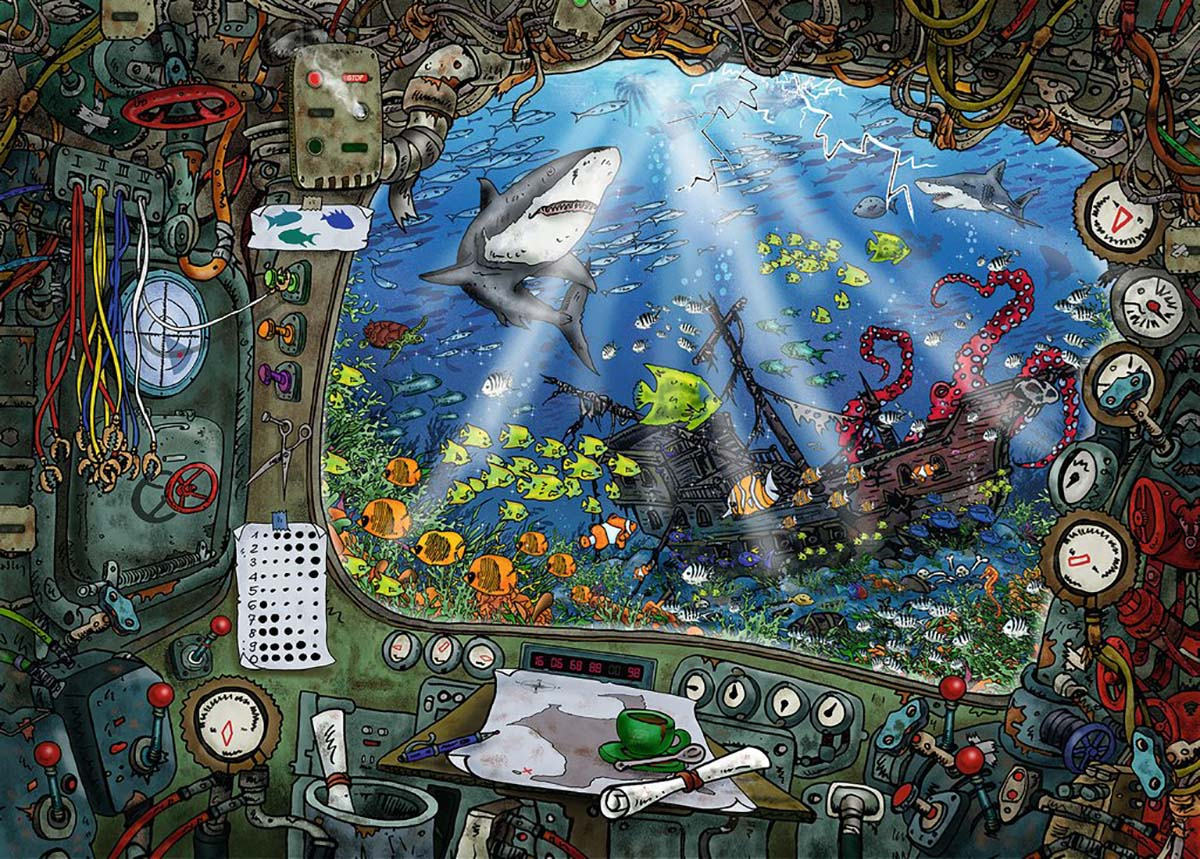 Submarine Under The Sea Jigsaw Puzzle