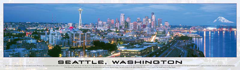Seattle, Washington Skyline / Cityscape Jigsaw Puzzle