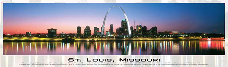 St. Louis, Missouri Panoramic Skyline / Cityscape Jigsaw Puzzle