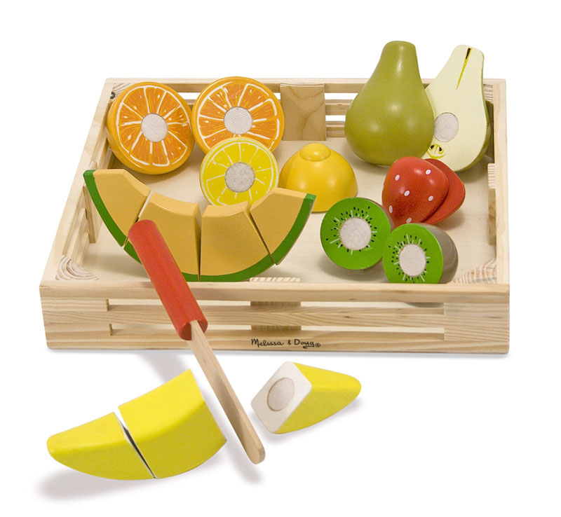 Cutting Fruit Crate Food and Drink Pretend Play
