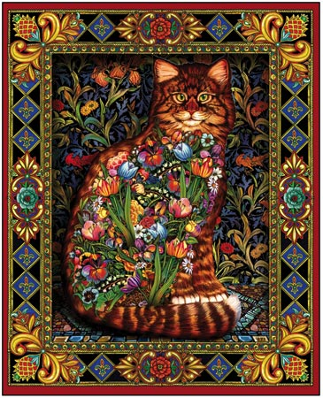 Tapestry Cats Cats Jigsaw Puzzle