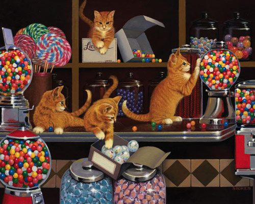 Candy Store Cats Jigsaw Puzzle