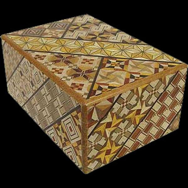 Japanese Puzzle Box - 4 Sun 14 Step Koyosegi Pattern Brain Teaser
