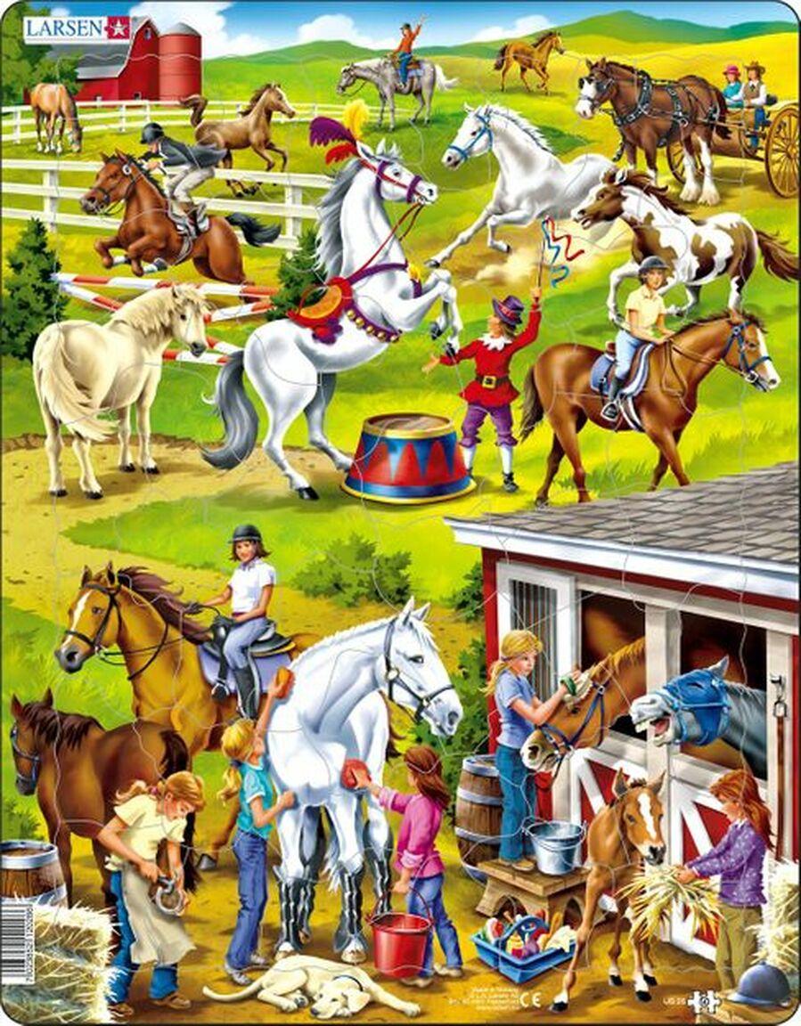 Horse Puzzle Horses Children's Puzzles