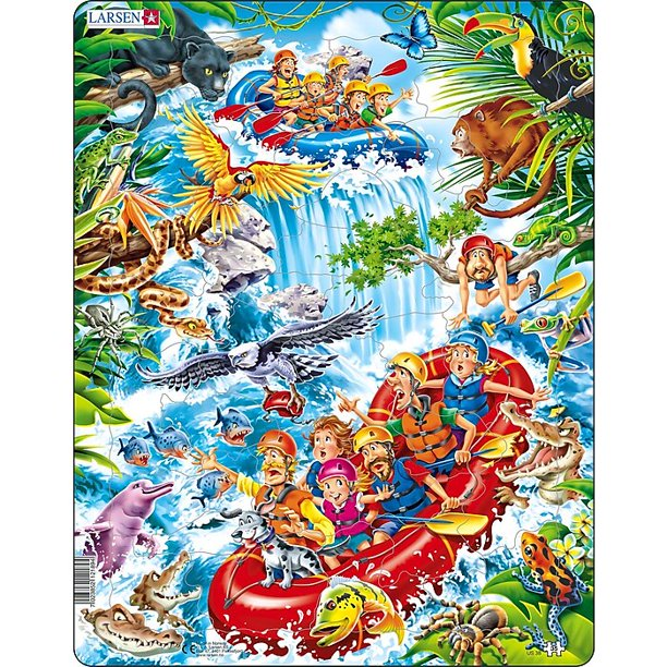 Rafting The Amazons Sports Tray Puzzle