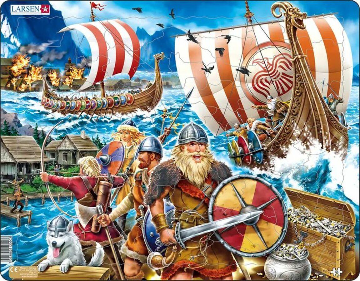 Viking Raid History Children's Puzzles