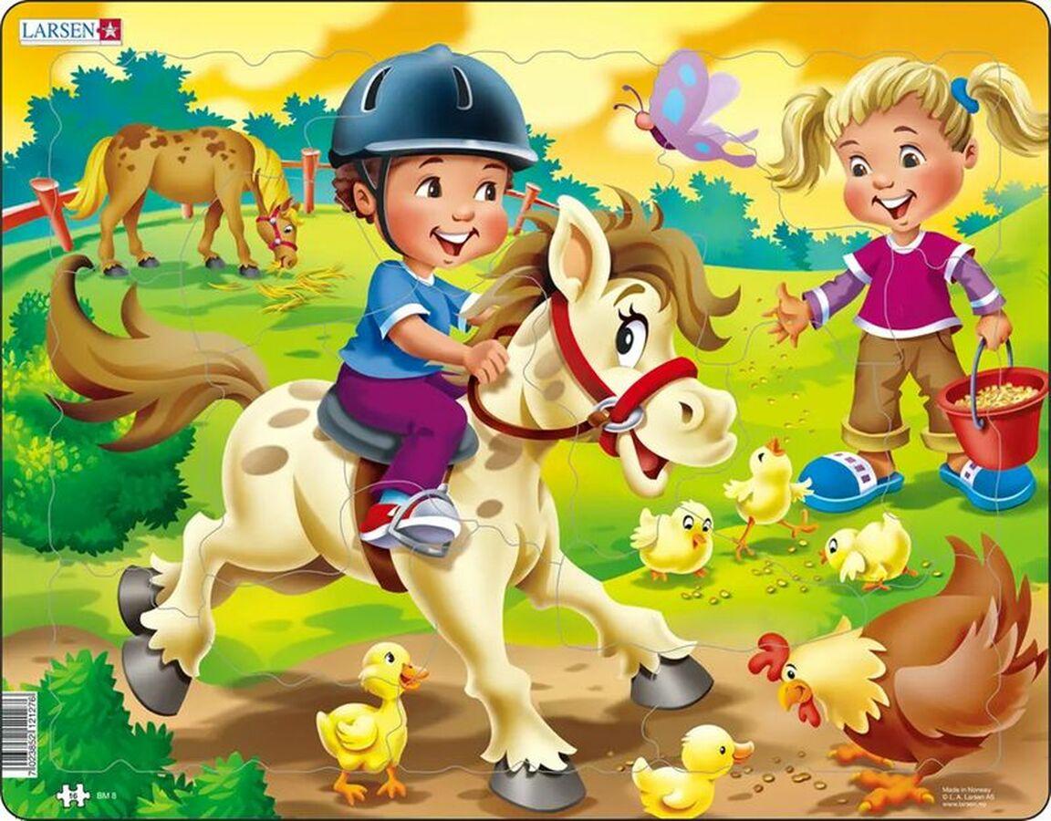 Farm Kids With Pony Farm Tray Puzzle