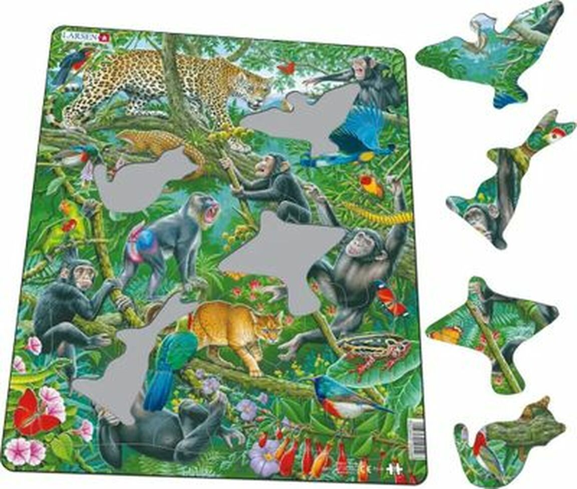 Jungle Life Jungle Animals Children's Puzzles