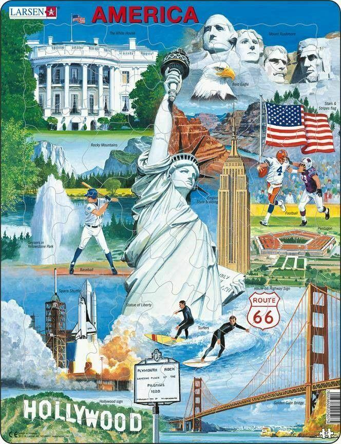 USA Souvenir Educational Tray Puzzle
