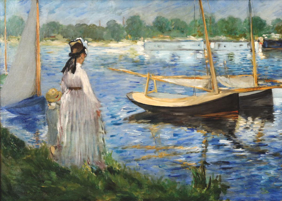 The Banks Of The Seine At Argenteuil Fine Art Jigsaw Puzzle
