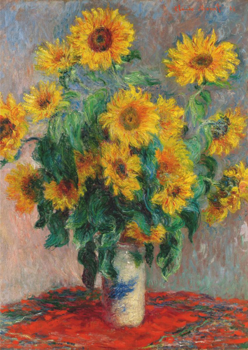 Bouquet Of Sunflowers Fine Art Jigsaw Puzzle