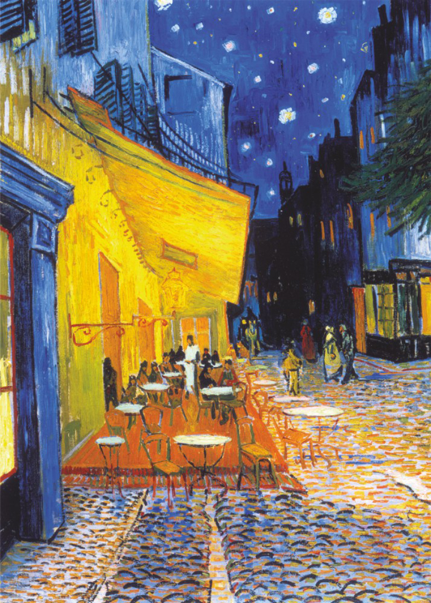 Café Terrace At Night Fine Art Jigsaw Puzzle