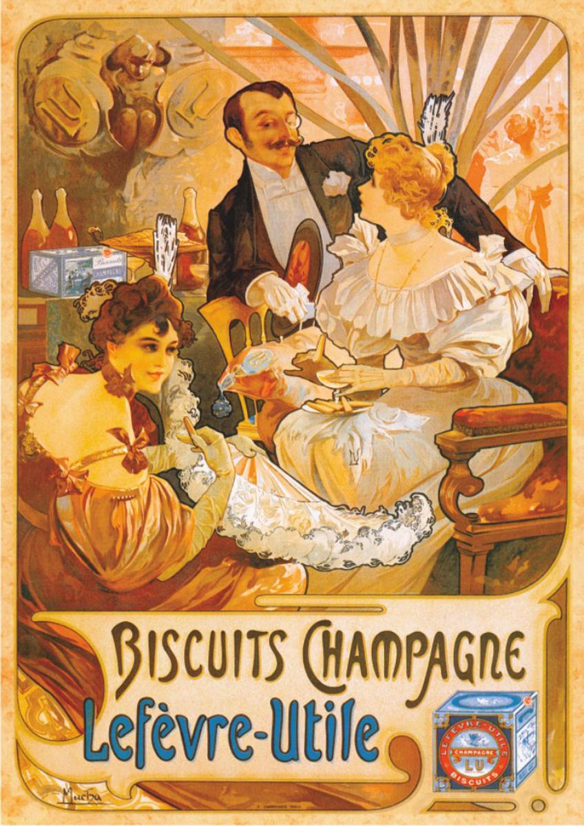 Biscuits Champagne Lefevre-Utile Nostalgic / Retro Jigsaw Puzzle