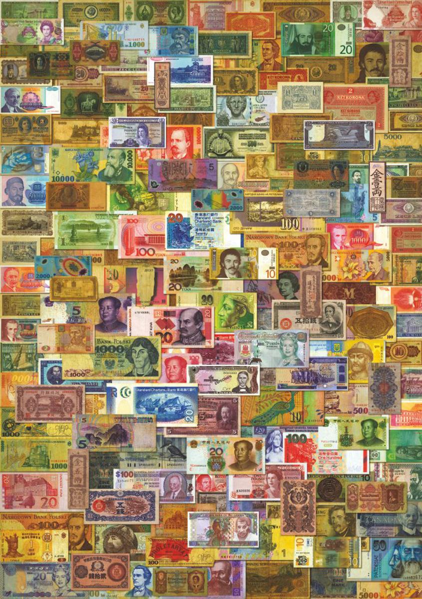 Vintage Currency Collage Nostalgic / Retro Jigsaw Puzzle