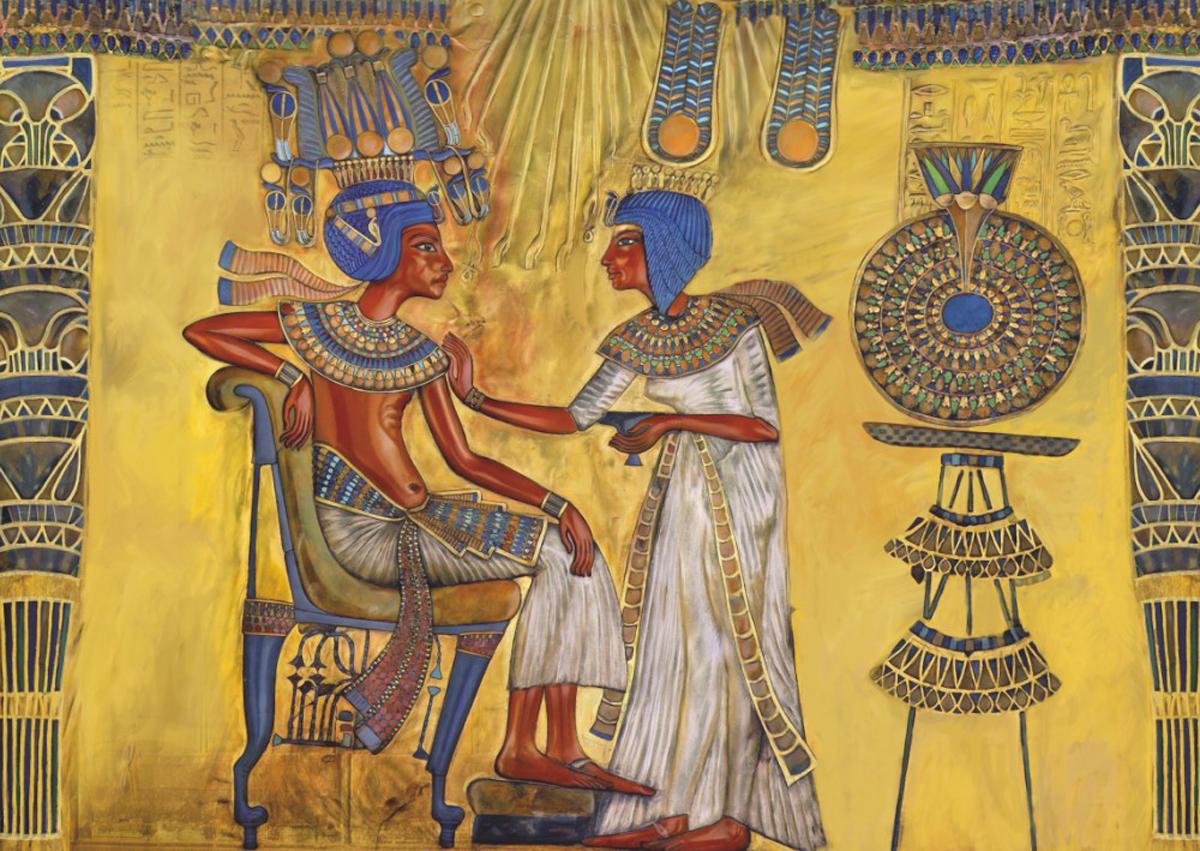 Ancient Egypt Pharaoh Cultural Art Jigsaw Puzzle