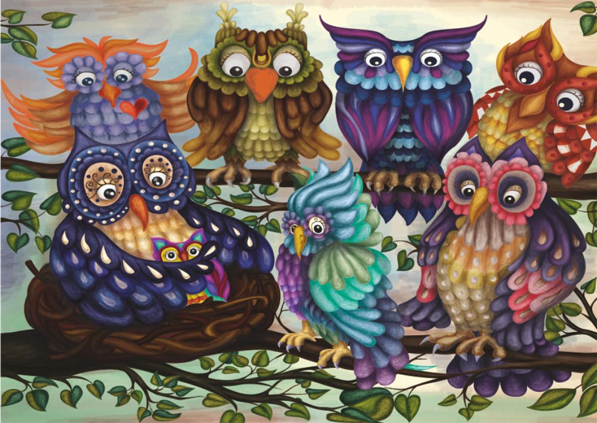 Family Owls Owl Jigsaw Puzzle