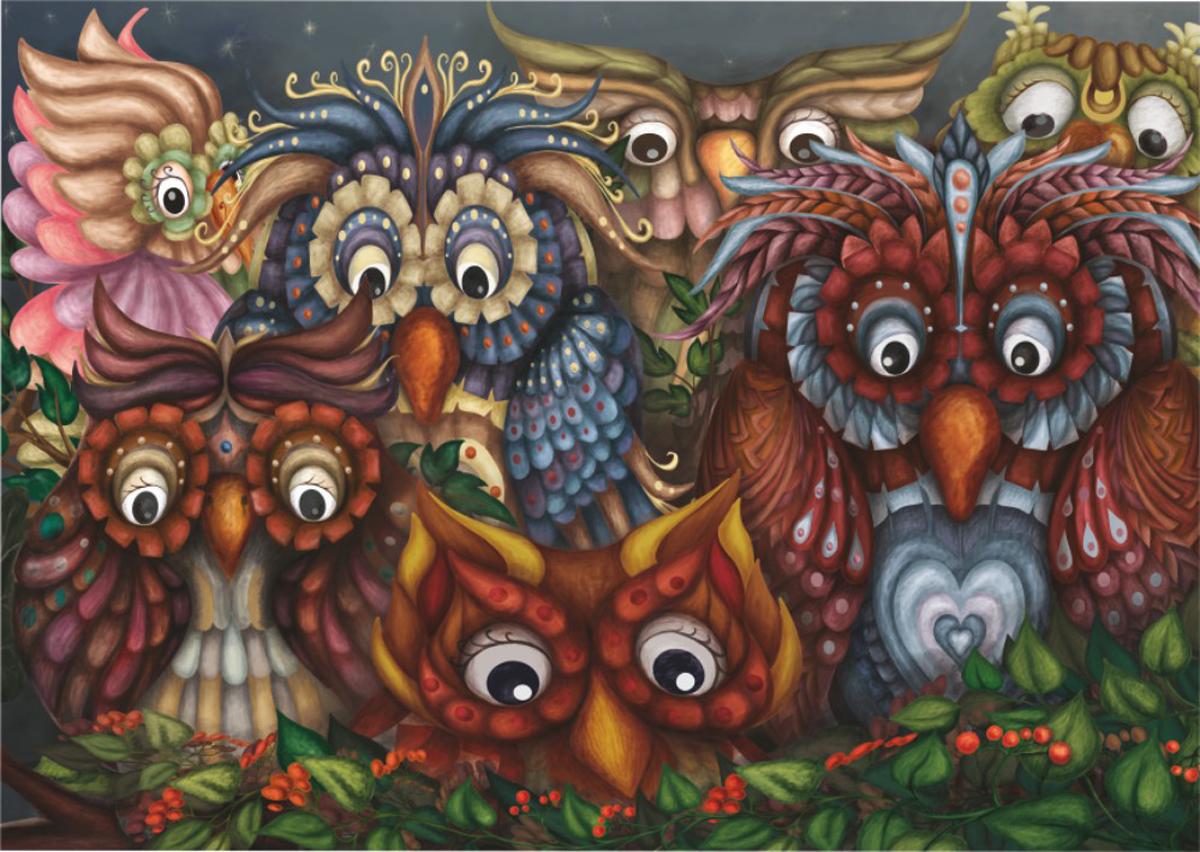 Close Owls Owl Jigsaw Puzzle
