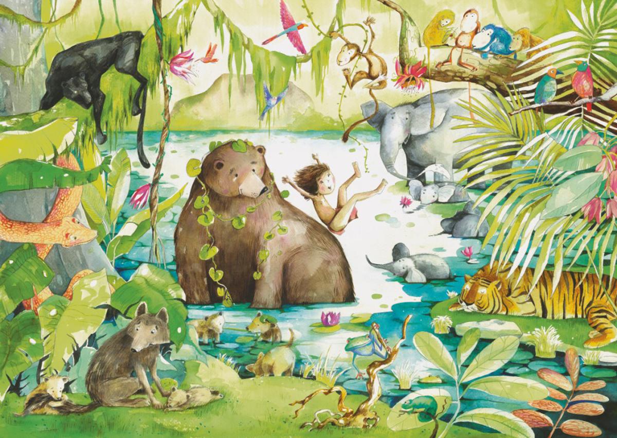 Jungle Book Jungle Animals Jigsaw Puzzle