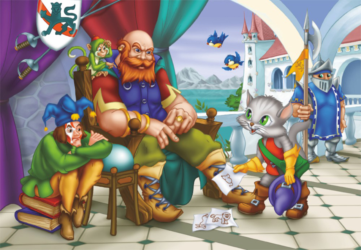 Puss In Boots Fantasy Jigsaw Puzzle