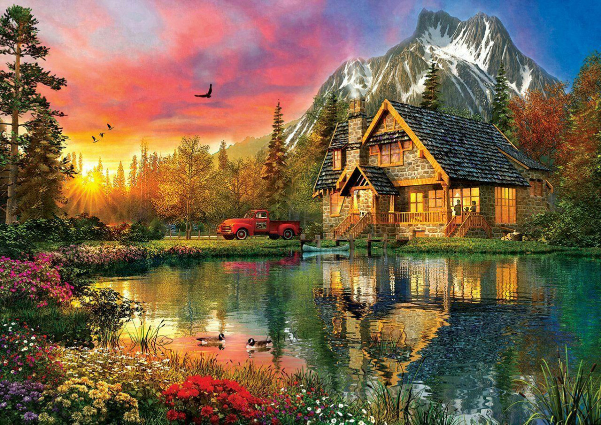 Four Seasons In One Moment Lakes / Rivers / Streams Jigsaw Puzzle