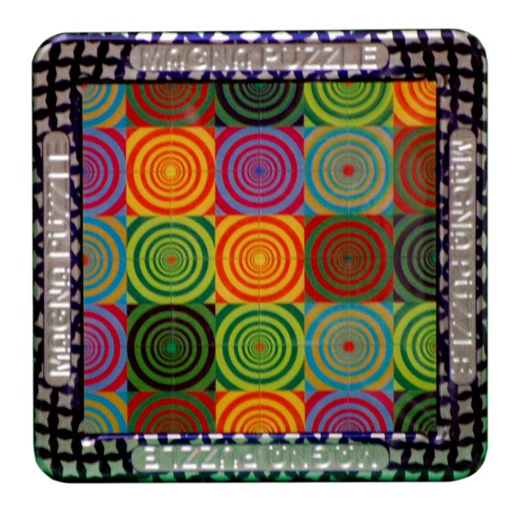 3D Magna Puzzle - Spirals (Quilt Circles) Graphics Jigsaw Puzzle