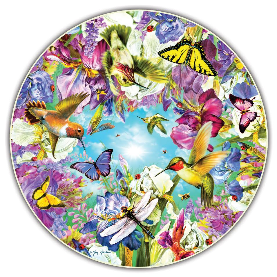Hummingbirds (Round Table Puzzle) Birds Shaped Puzzle