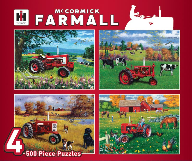 500pc Farmall 4-Pack Farm Jigsaw Puzzle