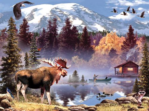 Moose Pond Jigsaw Puzzle