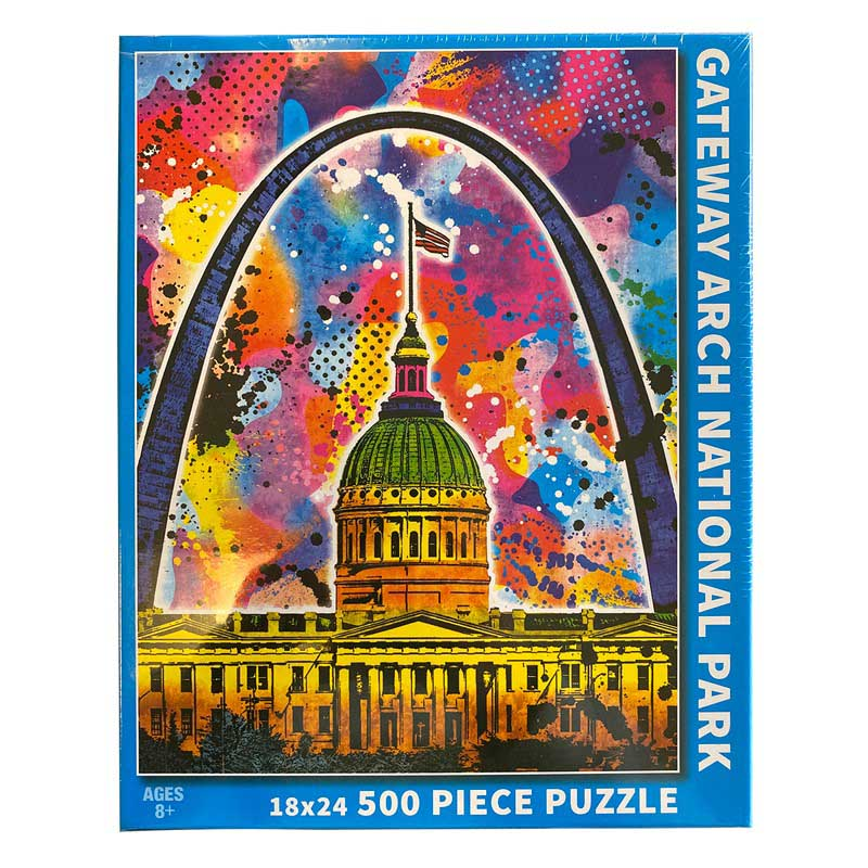 Gateway Arch Graffiti Puzzle Landmarks / Monuments Jigsaw Puzzle