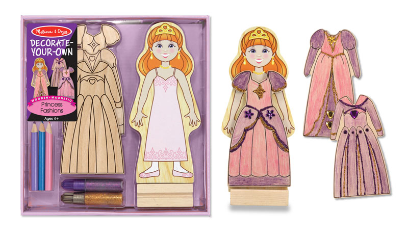 Wooden Magnetic Princess Fashion - DYO Princess Arts and Crafts