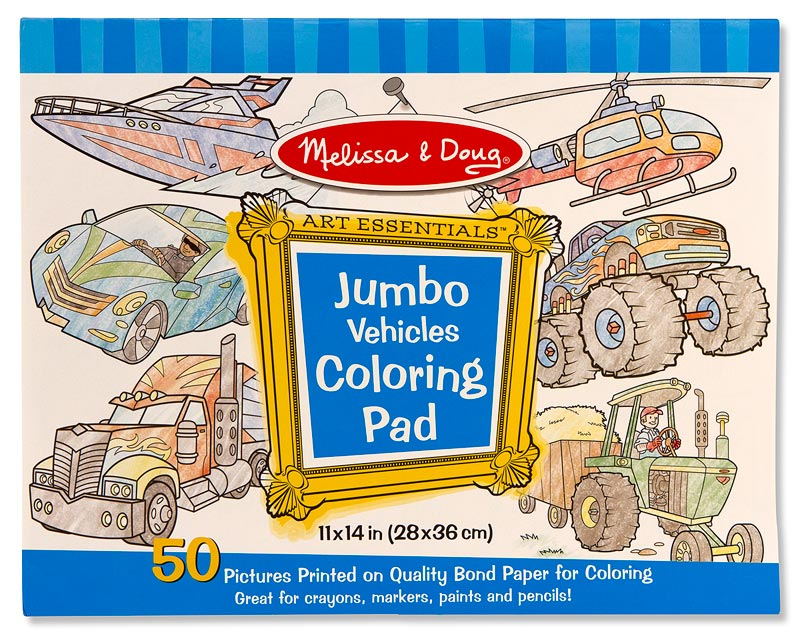 Vehicles (Jumbo Coloring Pad)